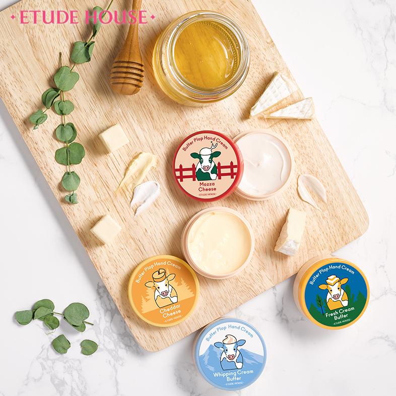 濃厚バターとチーズのように、しっとりスムースな質感 EtudeHouse バターハンドクリーム